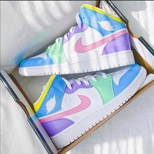 ⚡️Custom Multicolor Air Jordan 1 Shoes⚡️